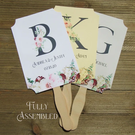 Monogrammed Wedding Fans 2020 Wedding Trends Abbey and