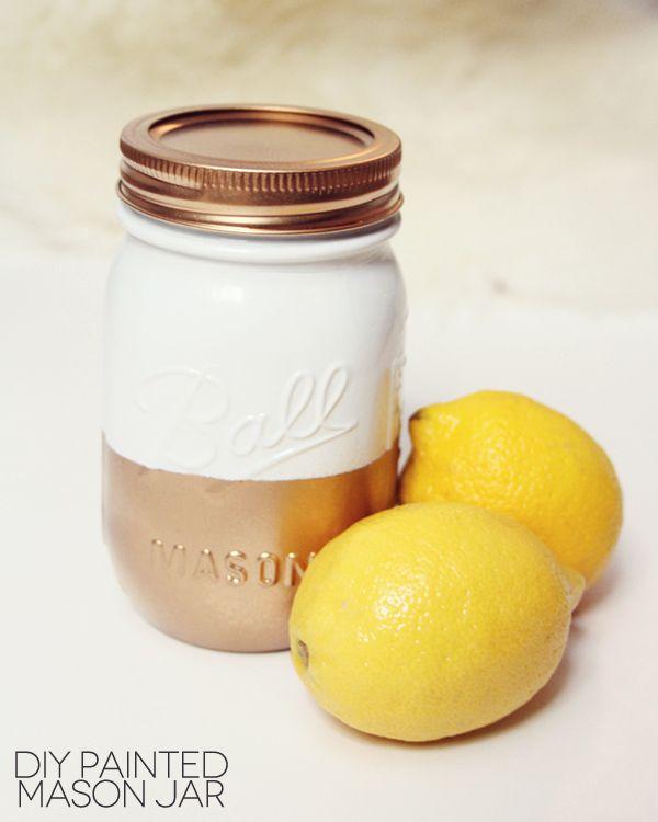 Panted mason jars