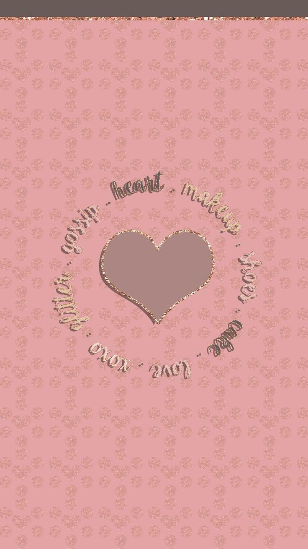 Rose Gold Wallpaper Iphone 6 6 Plus Heart Makeup Love Hd Background G Backgrou Rose Gold Wallpaper Wallpaper Iphone Love Pink And Gold Wallpaper