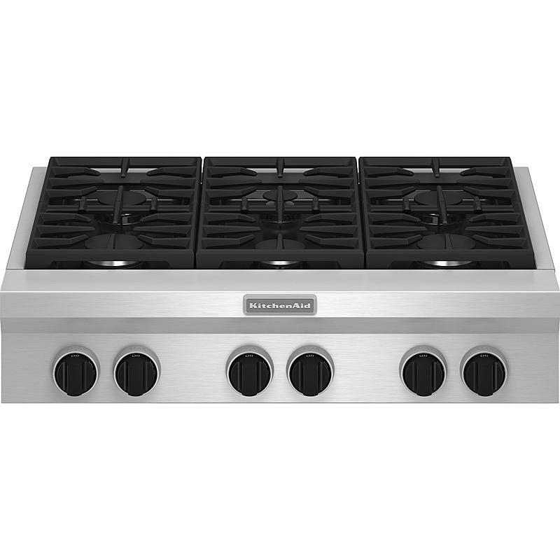 Kitchenaid Kgcu467vss Pro Style Reg 36 Gas Cooktop Major