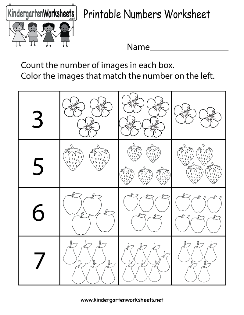 This is a fun numbers worksheet. Kids can also learn to ...