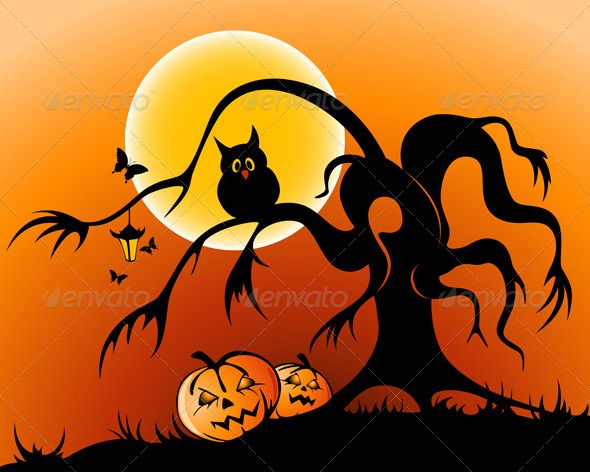 Halloween Background Halloween backgrounds, Owl pumpkin and - halloween backdrop
