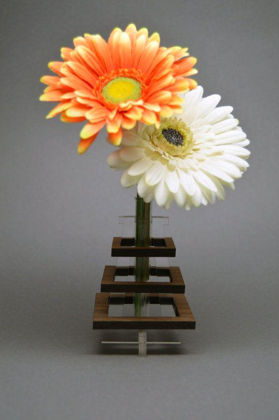 Wooden And Acrylic Bud Vase Design Pinterest Acrylics Etsy