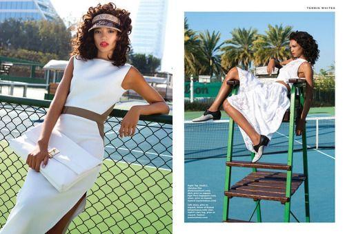 Global Fashions Tennis Fashion Editorial Tennis Fashion Tennis Court Photoshoot