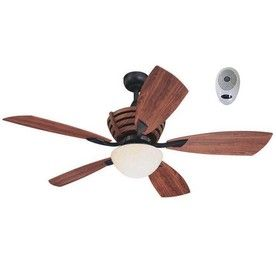 Harbor Breeze 52 In Teak Matte Black Outdoor Ceiling Fan