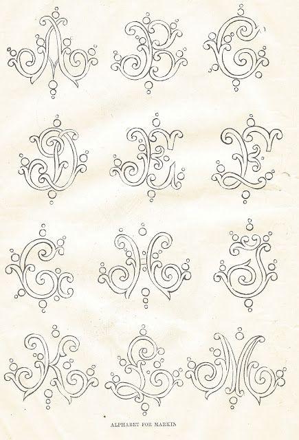 Antique Graphics Wednesday Three 1800s Antique Alphabet Fonts