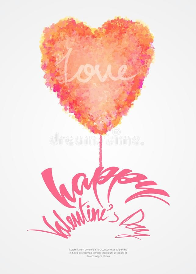 Download Valentine`s Day Card Template, Greeting Card Layout, Heart - greeting card template