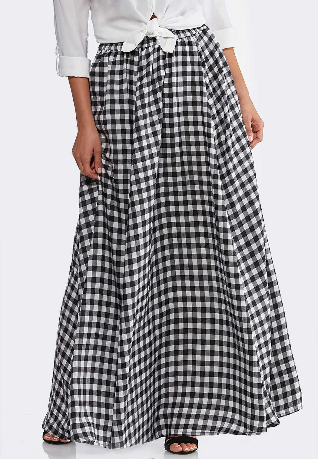 ad13d79ad Gingham Maxi Skirt Maxi Cato Fashions in 2019 | Cool & Casual Maxis ...