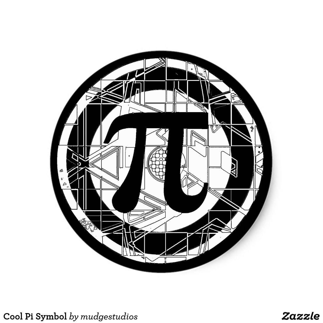 Cool Pi Symbol Classic Round Sticker Zazzle Com Cikartma Matematik Cizim