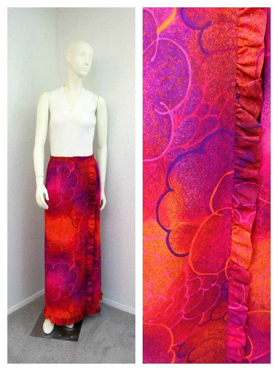 Vintage 70s Polynesian Barkcloth Skirt Alice of by SprightlyVogue, $47.00