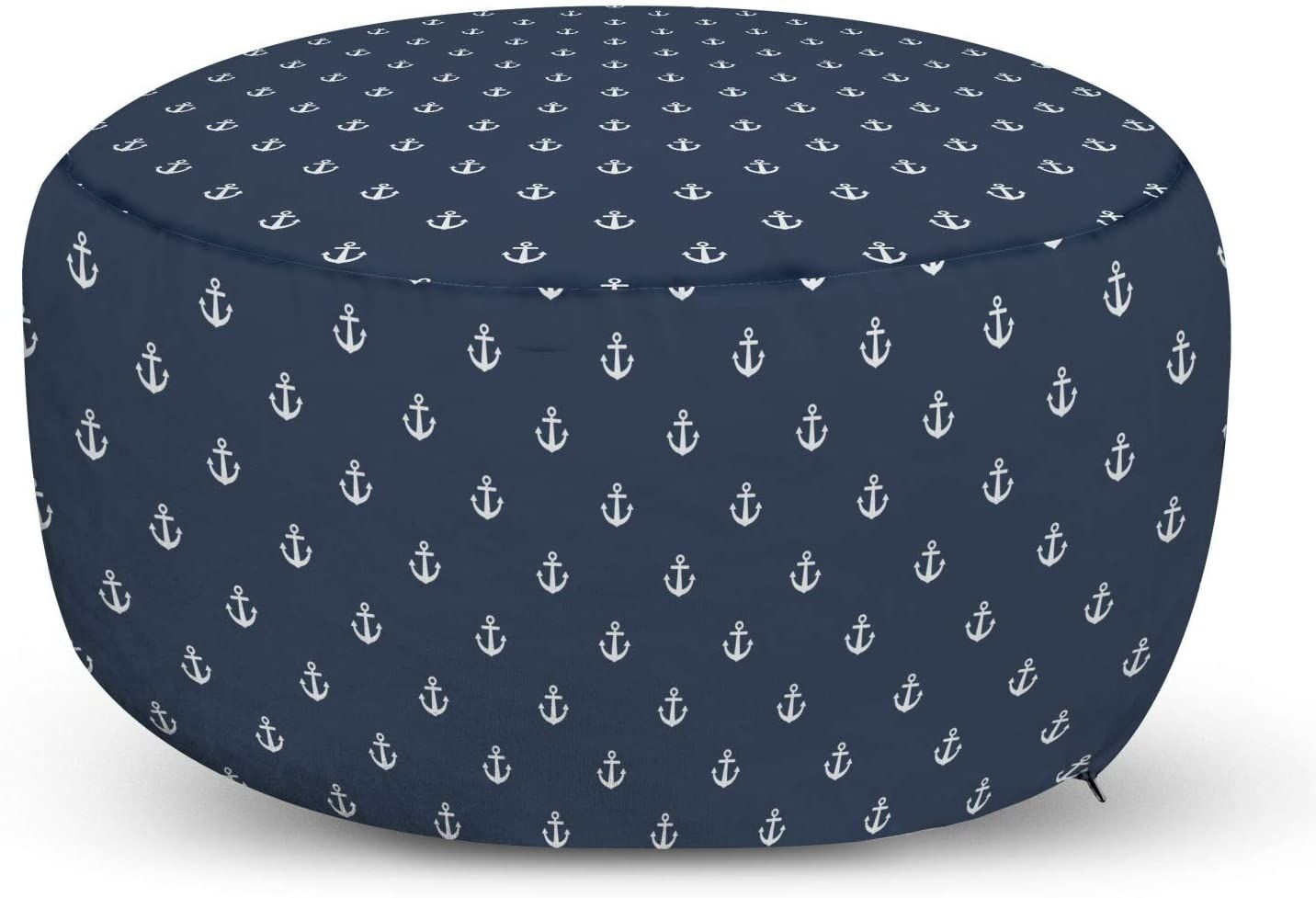 Ambesonne Navy Blue Ottoman Pouf Nautical Classical Pattern Little Anchor Sea Travel Cruise Theme Decorative So In 2020 Navy Blue Ottoman Blue Ottoman Pouf Ottoman