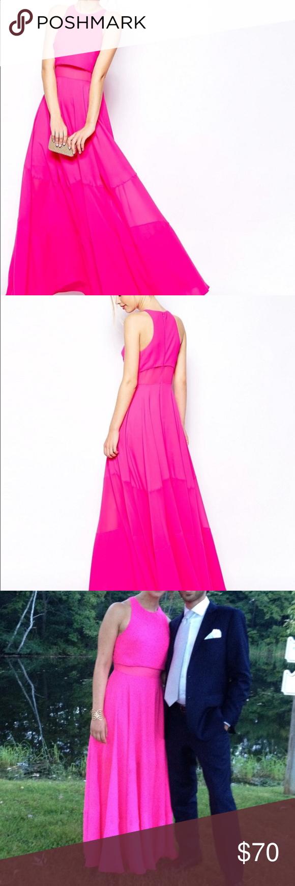 Hot pink maxi dress  Hot Pink Maxi Dress NWT  Pinterest