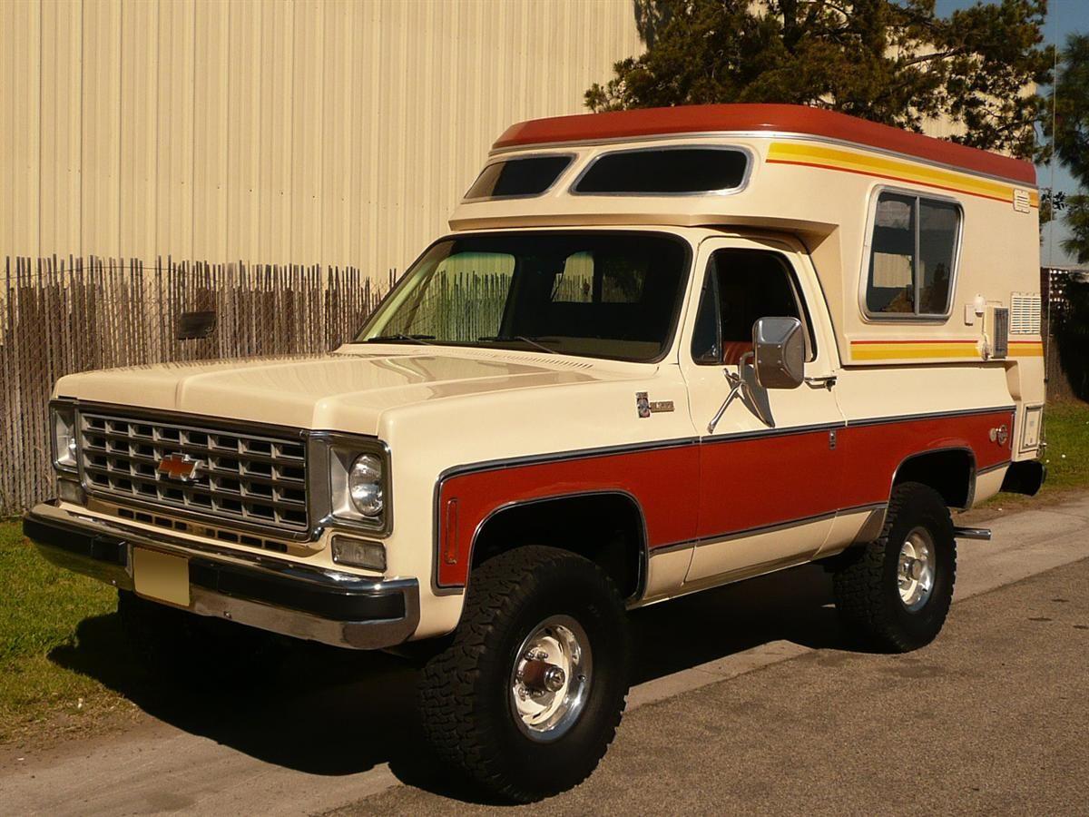 1976 Chevrolet Blazer Chalet Camper Cool Trucks Truck Camper