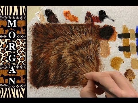 Glazing Painting Video How To Paint Fur Hair Tutorial Jason