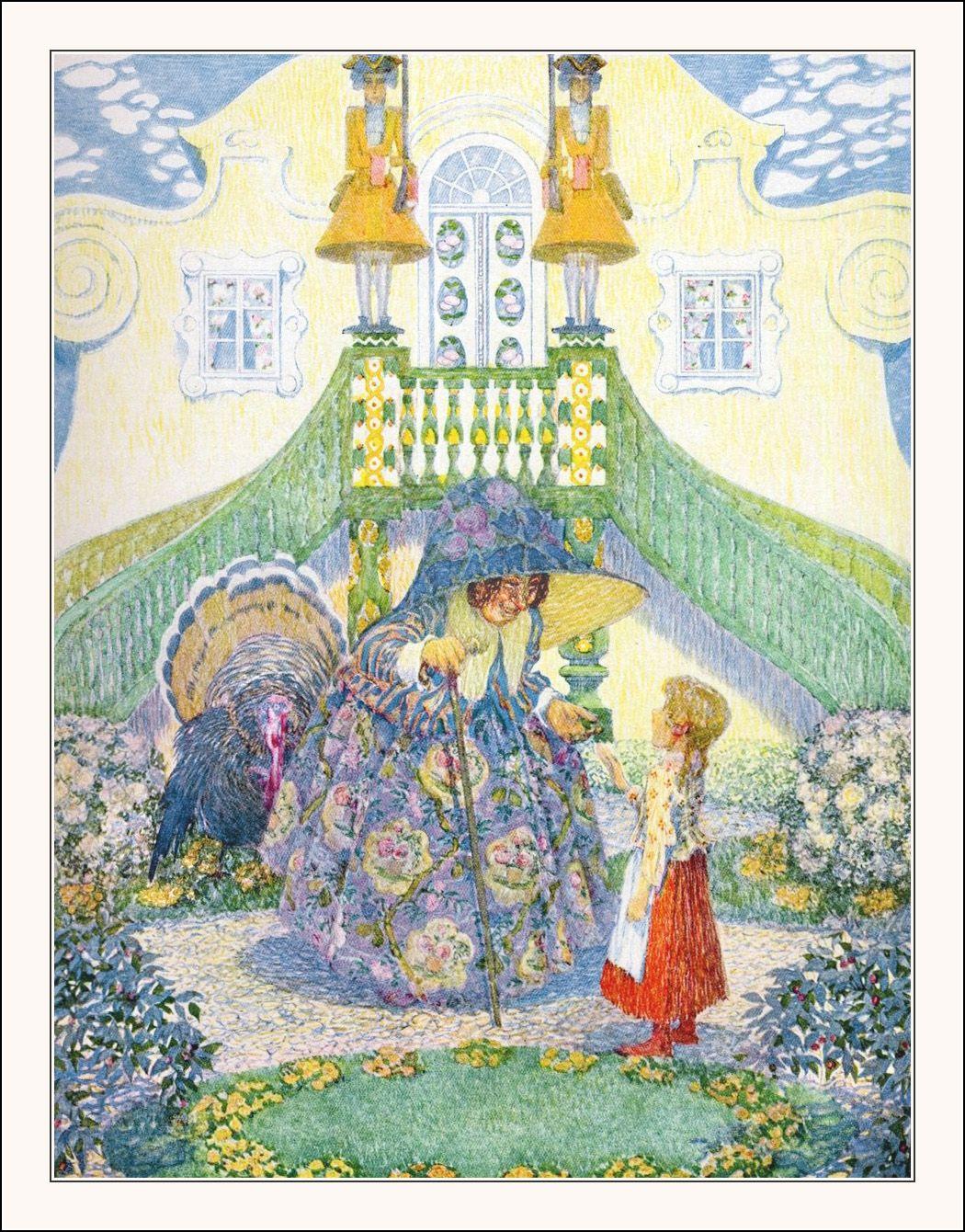 June - Die Schneekönigen (The Snow Queen), Andersen-Kalender 1911,  Zwölf Märchen, Illustriert von Heinrich Lefler und Joseph Urban, nacherzählt von Hugo Salus. Published by M. Munk, Stuttgart, 1910