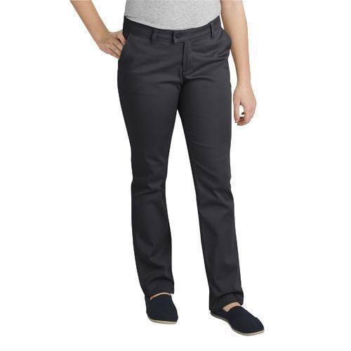 Dickies Juniors' Schoolwear Slim Fit Straight Leg Stretch Pant