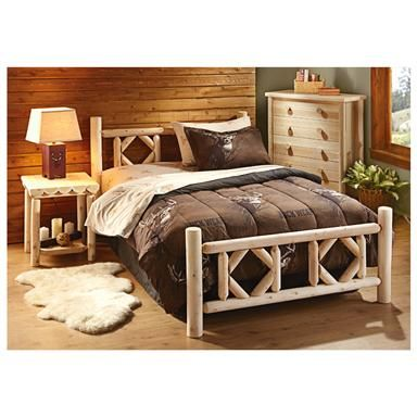 Log Bedroom Sets New Castlecreek Diamond Cedar Log Bed Twin  Log Bed Diamonds And Beds Design Decoration