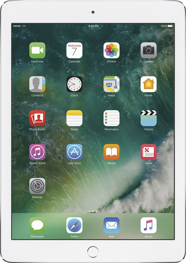 Apple - iPad Air 2 with Wi-Fi + Cellular - 32GB (Sprint) - Silver, MNW22LL/A