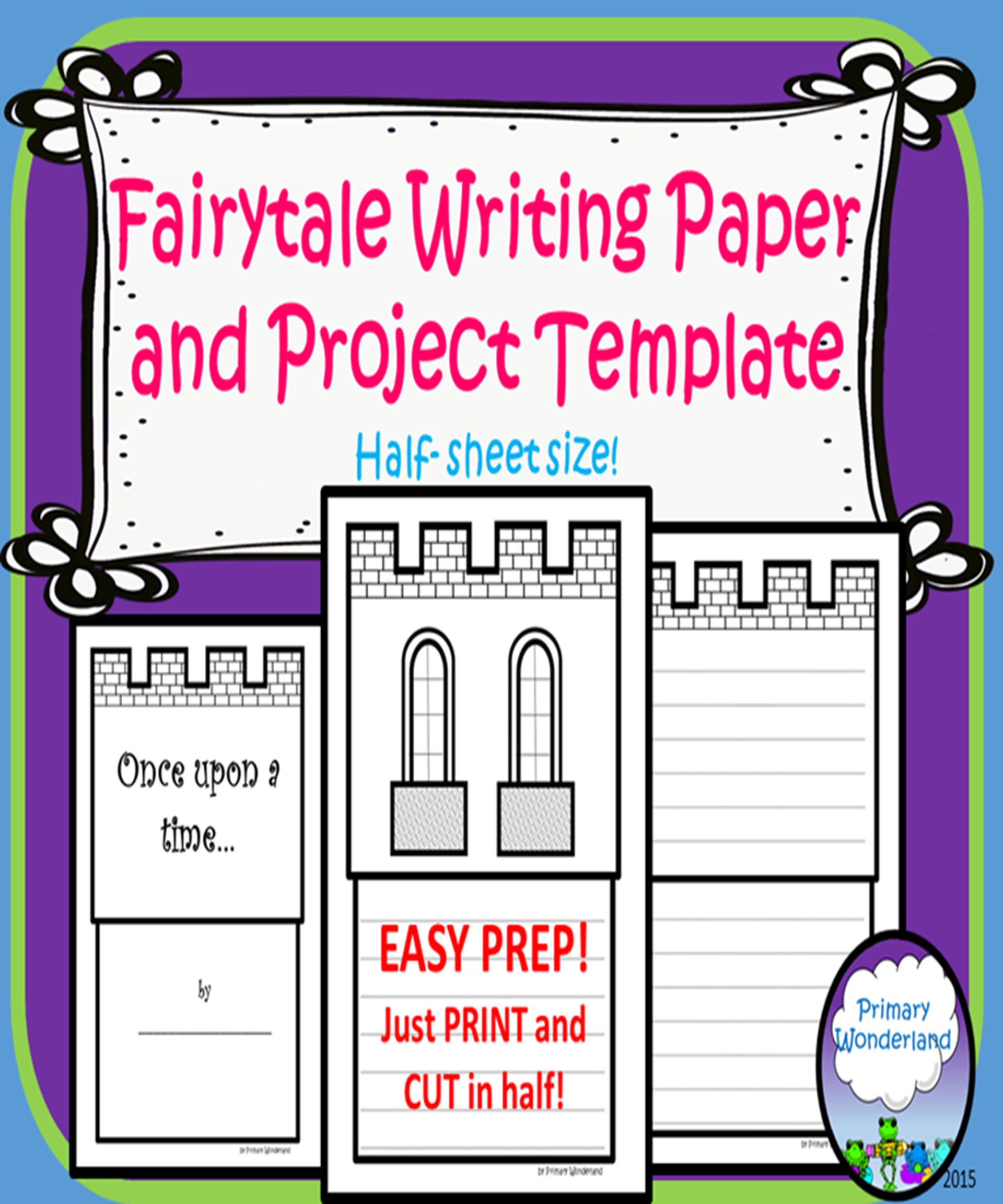 Fairy Tale Paper Template Half Sheets