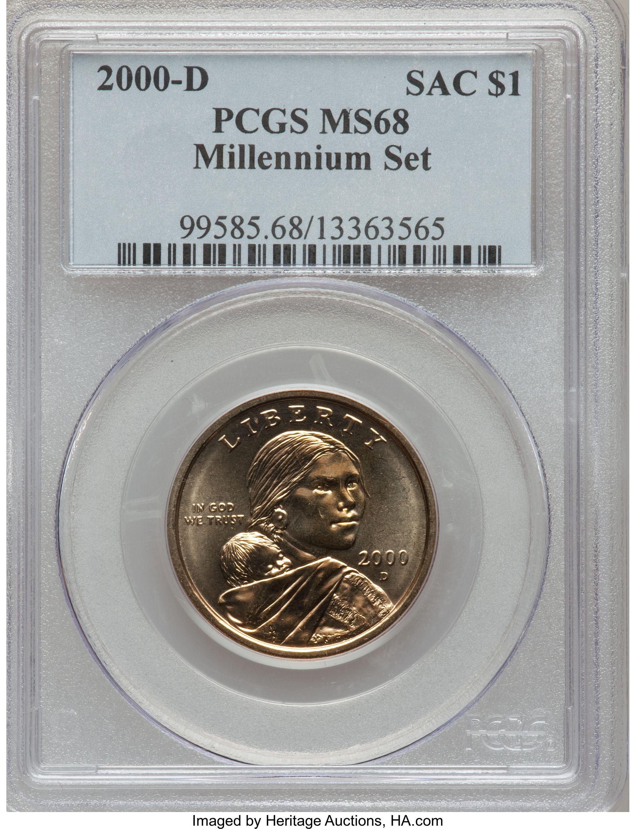 2000 D Millennium Set Sacagawea Dollar Value Coin Helpu Sacagawea Dollar Sacagawea American Dollar