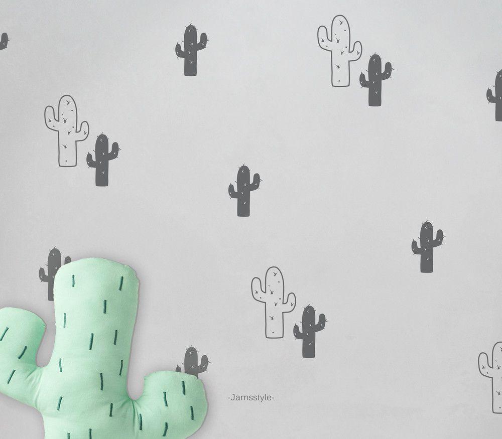 """Wandtattoo, Wandsticker """"KaktusSet"""" 2 Größen"""