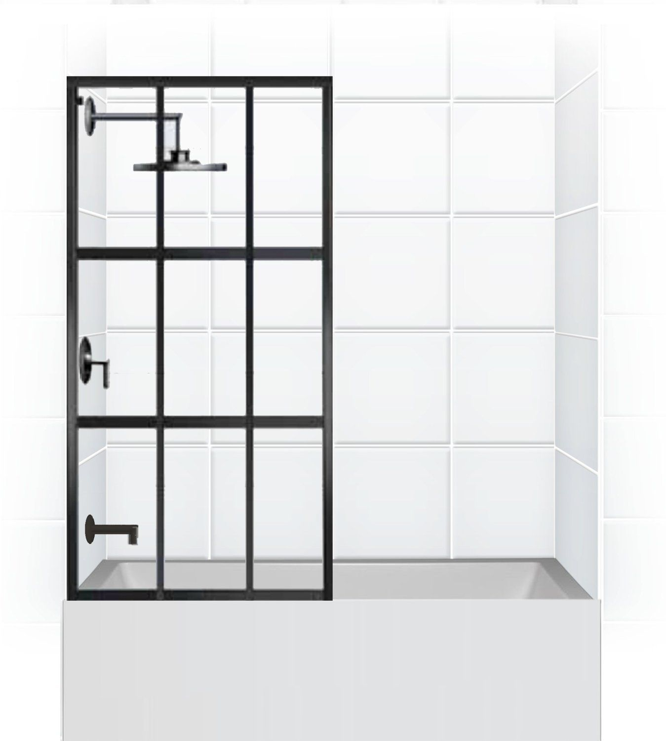 shower clear hinged glass dreamline tub x door chrome bathtub doors shdr aqua