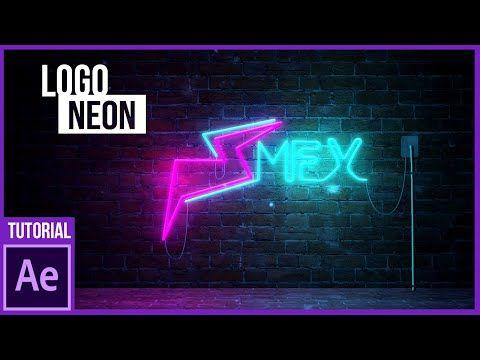 Logo Neon en After Effects Tutorial YouTube Disenos