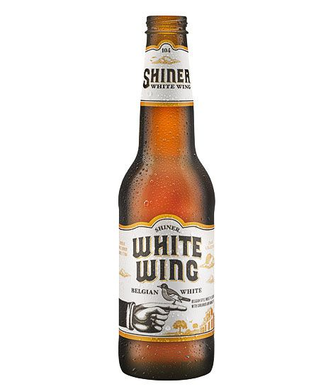 Shiner White Wing Belgian White Witbier Pint Beer Glass Spoetzl Brewery NEW