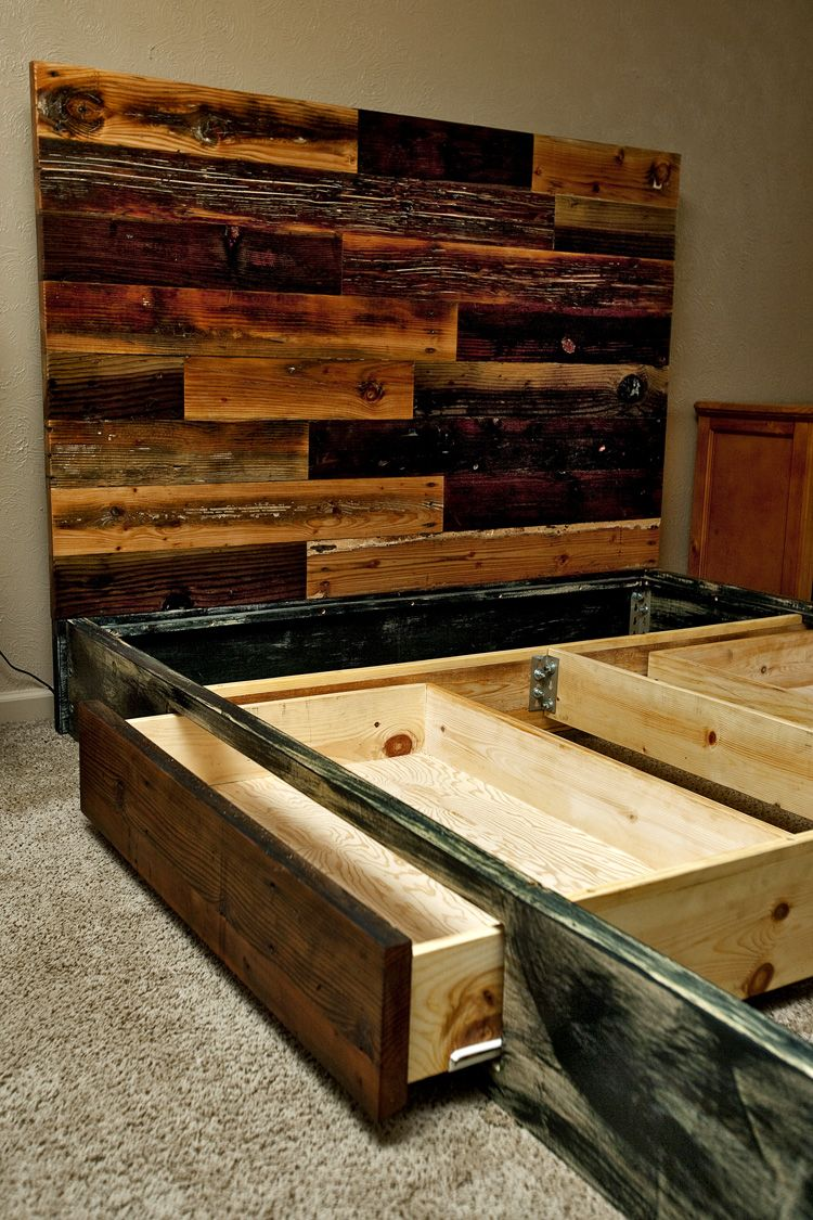 Custom wood bed frame - Redwood Headboard Reclaimed Wood Headboard Custom Sizes Reclaimed Wood Bed Framereclaimed