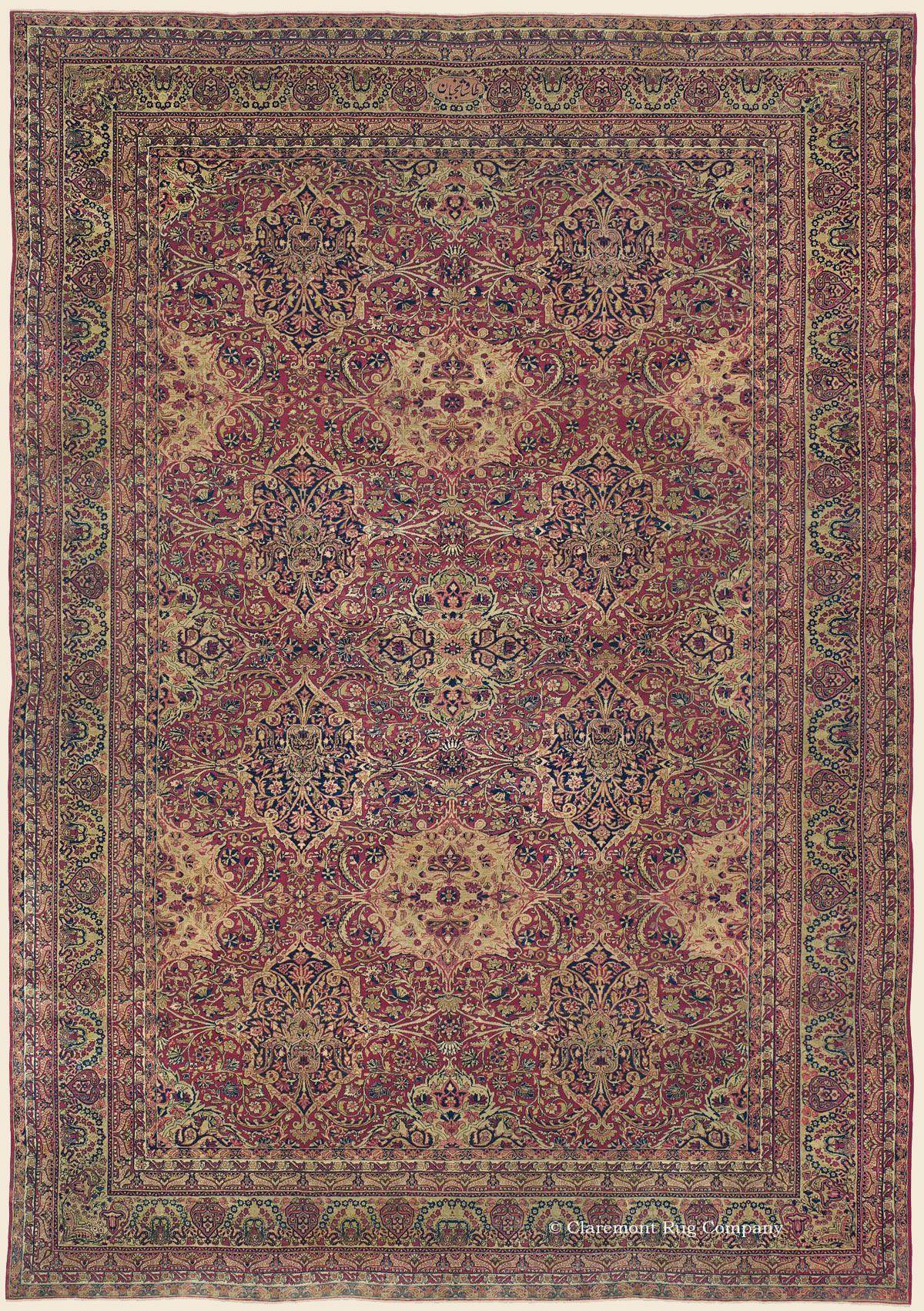 Laver Kirman Southeast Persian Antique Rug 10 8 X 15 4 Circa 1875 Claremont Rug Company Oriental Rug Rugs Rugs On Carpet