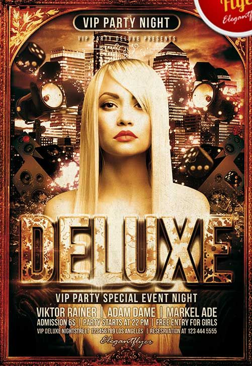 Deluxe Party Free Club And Party Flyer Poster Pinterest Party