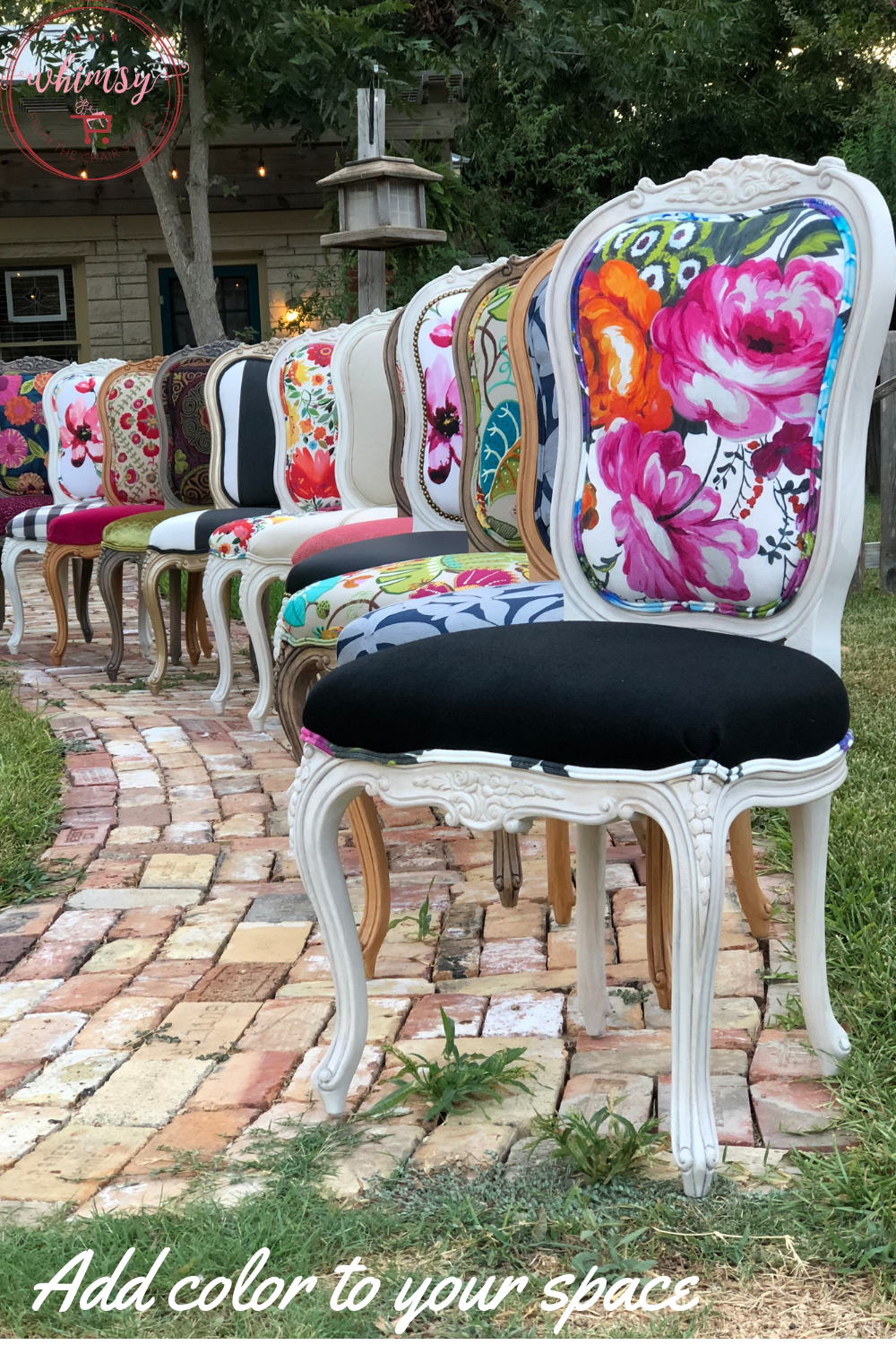 Chair Whimsy lineup of assorted collection chairs is part of Revamp furniture -