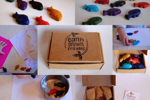 Natural soy handmade in lots of styles, found on Etsy from Earth Grown Crayons
