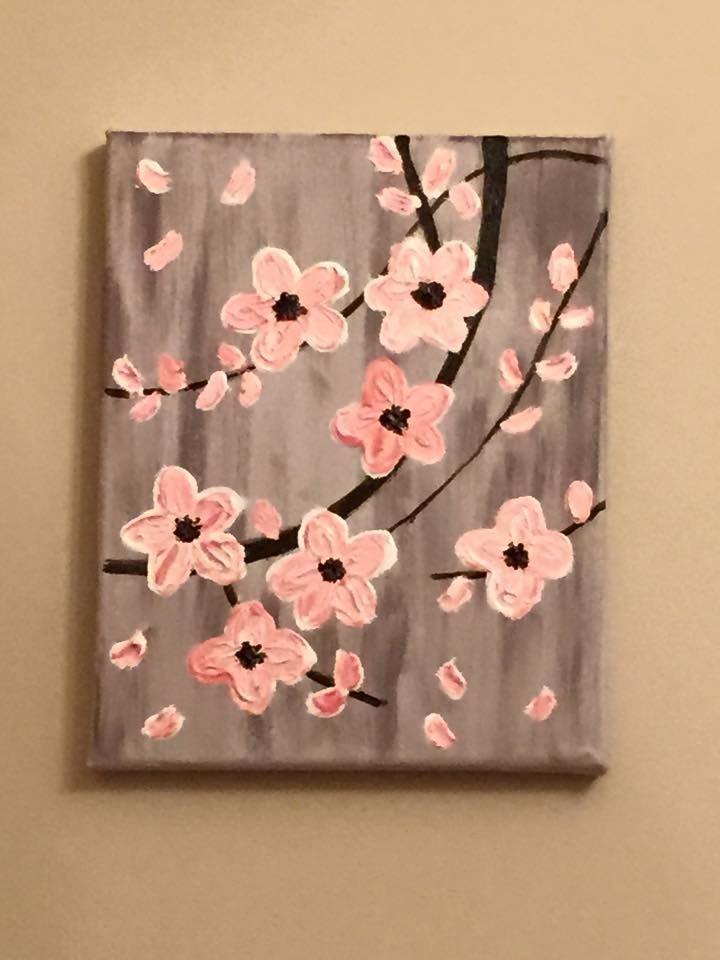 Acrylbild auf Leinwand von Lisa Fontaine. Impasto Hartriegel. Blumen. Baum... #a..., #Acrylb...
