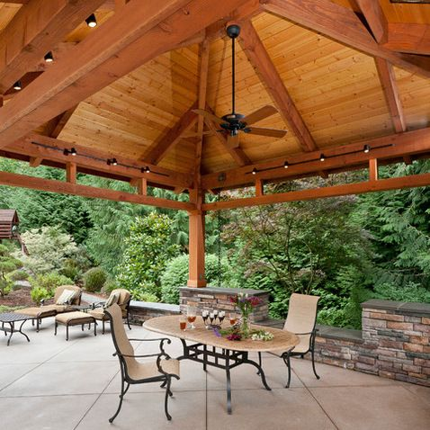 Detached Covered Patio Traditional Seattle Tenhulzen Residential Design
