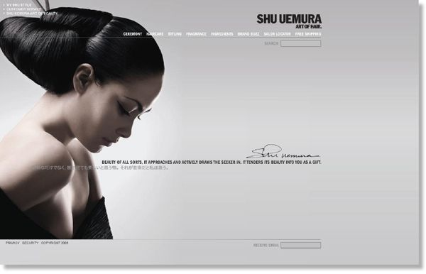 Shu Uemura Website by John Turner, via Behance