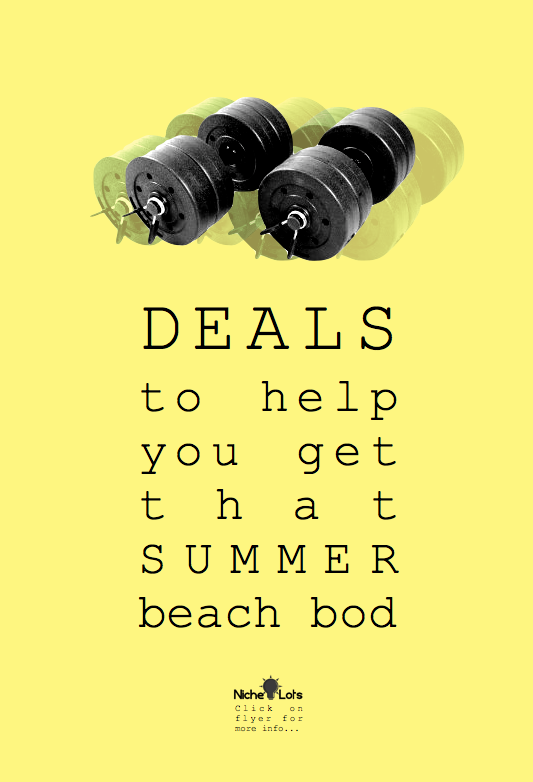 Fitness equipment deals for your beach body...