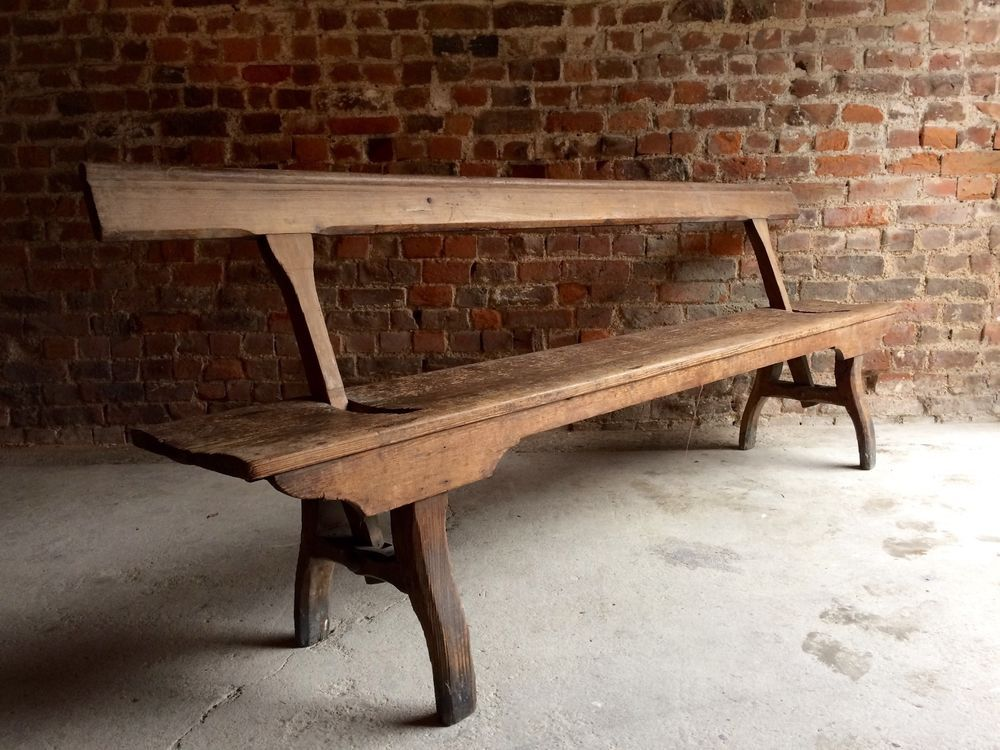 Fabulous Antique Bench Pew Pitch Pine Victorian19th Century Rustic ...