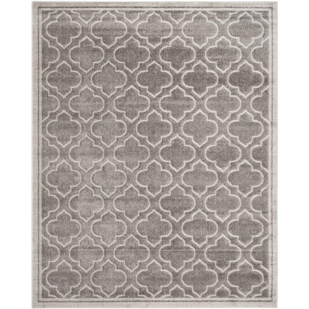 Amherst Gray Light Gray 9 Ft X 12 Ft Indoor Outdoor Area Rug Indoor Outdoor Area Rugs Area Rugs Light Grey Area Rug