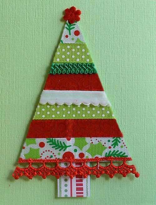 rbol de Navidad con Cintas Nanidad Navidad Pinterest Cintas
