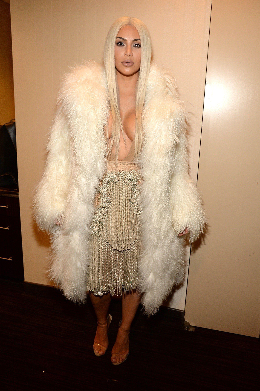6ddbb0c9979ad Kim Kardashian West s Yeezy Front Row Show Moments During New York Fashion  Week