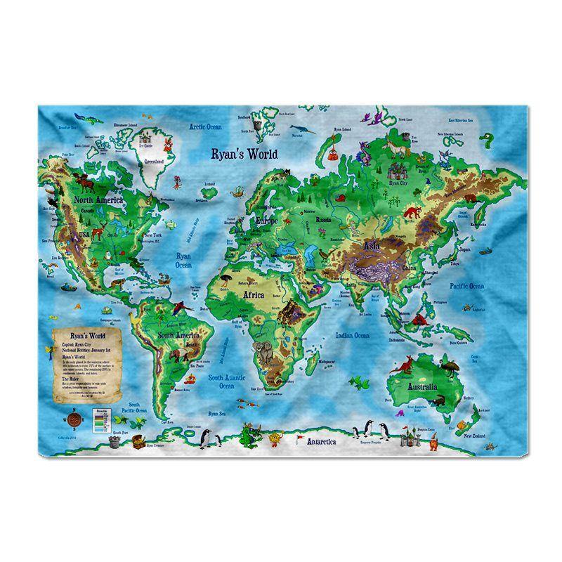World map blanket for kiddos future world room pinterest blanket world map blanket for kiddos gumiabroncs Choice Image
