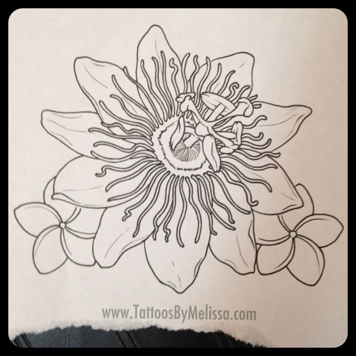 Realist Passion Flower Tattoo Flower Tattoo Drawings Passion Flower Passion Fruit Flower