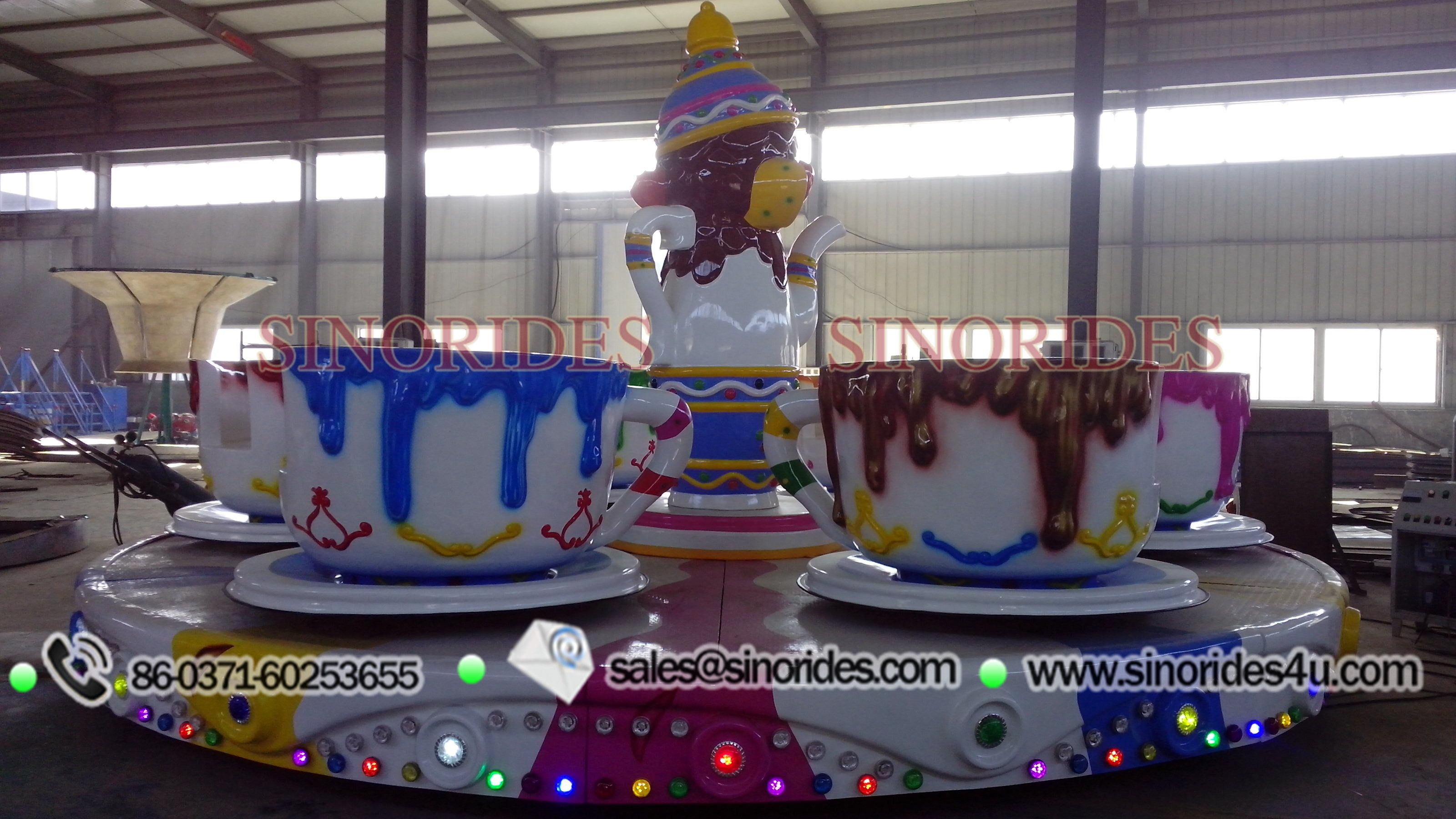 the tea cups amusement ride also called cups and saucer ride is