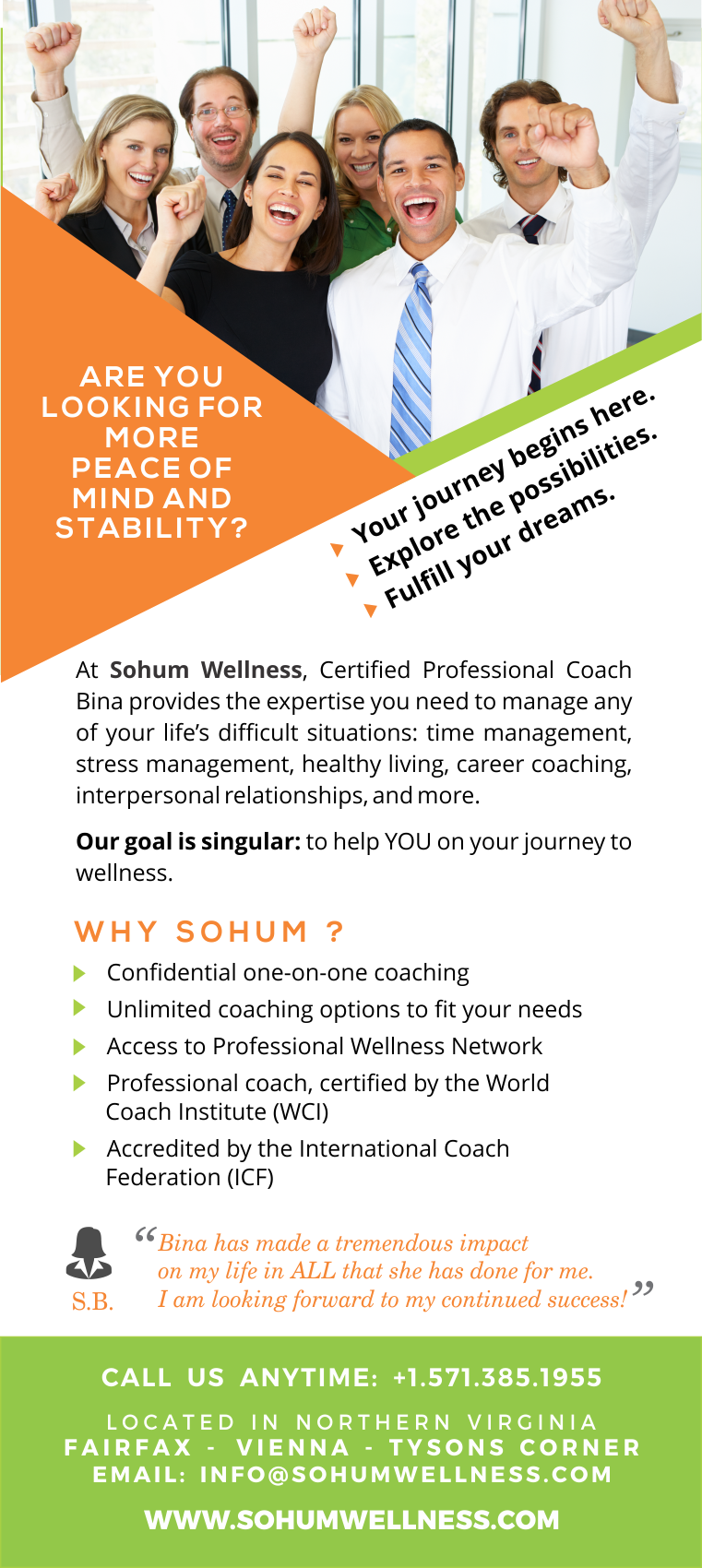 At Sohum Wellness Certified Professional Coach Bina