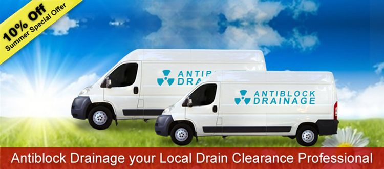 Drain Clearance London - Antiblock Drainage provide drain and sewer clearance, removing blockages from toilets, sinks, drains and sewers at very competitive prices. Our drain clearance services are available throughout London, Watford, St Albans and High Wycombe