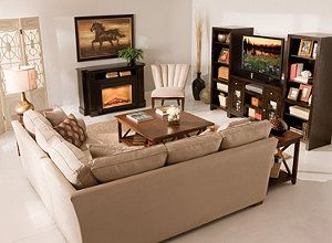 Furniture Arrangement W L Shaped Couch In Front Of Fireplace L