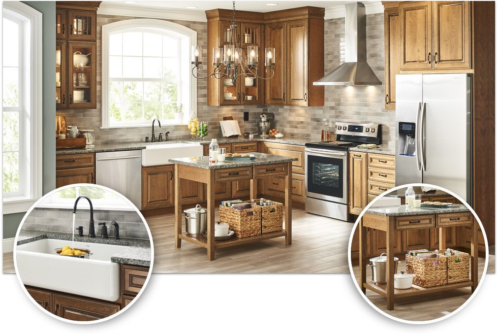 Before After Kitchen Makeover Inspiration From Lowe S Kitchen Remodel Kitchen Inspirations Rustic Kitchen Cabinets