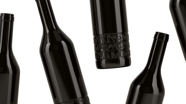 Composición #botellas proyecto Bodega tinerfeña Cumbres de Abona.