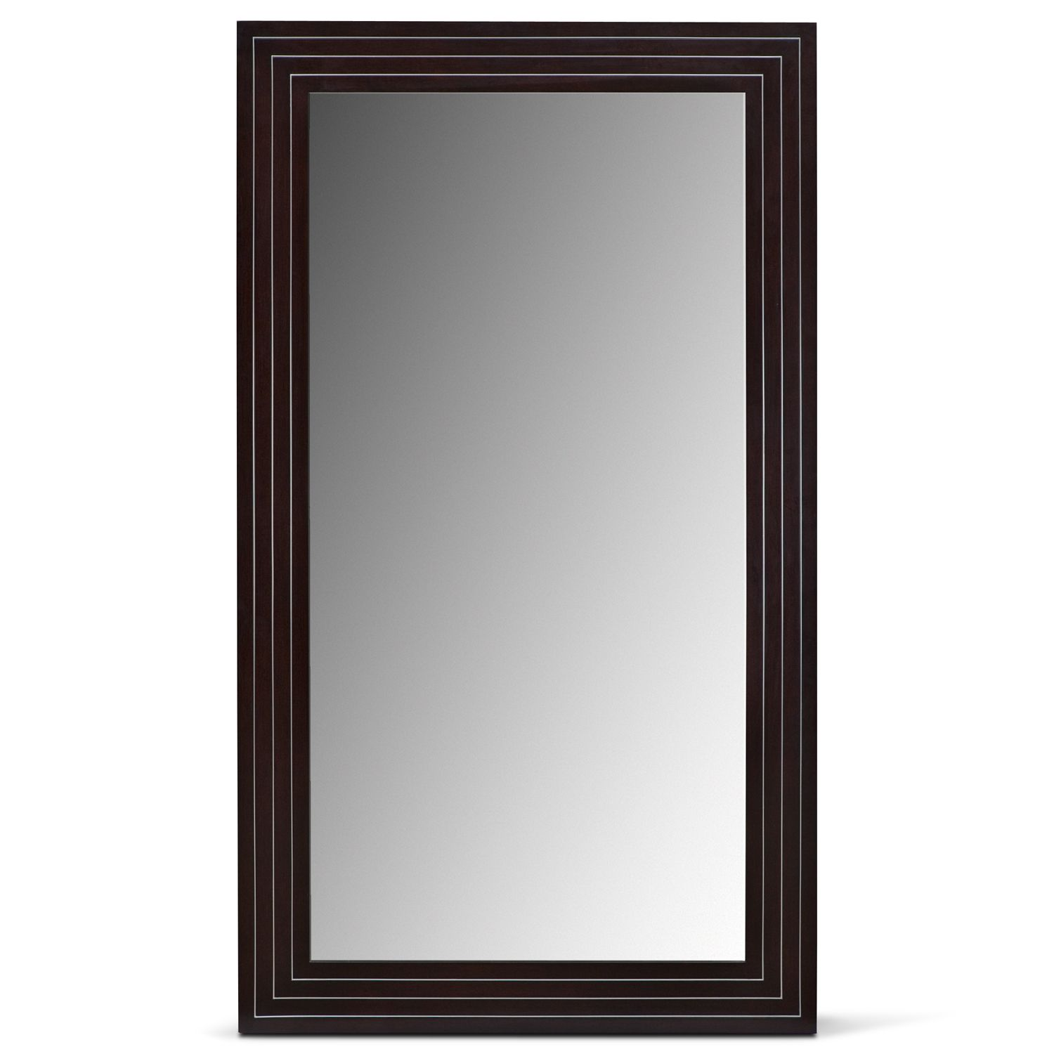 Wyatt Floor Mirror Black Contemporary Floor Mirror